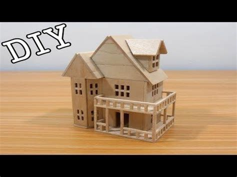 miniature house  skewers bamboo sticks diy