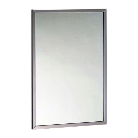 18 x 24 bathroom mirror bobrick b165 1824 channel frame mirror 18 quot x 24 quot 430