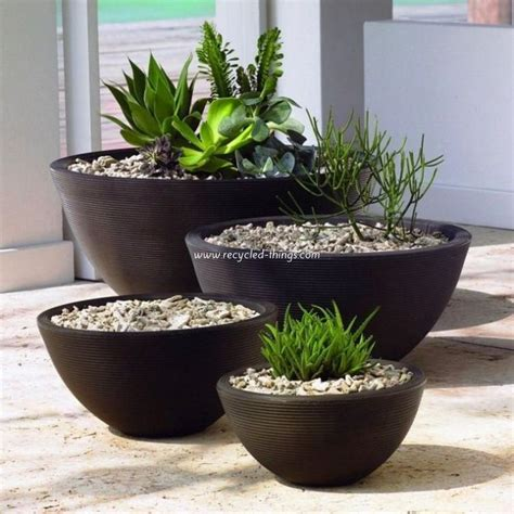 Patio Decor Ideas With Planters Pots Recycled Things Patio Planter Ideas