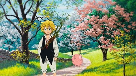 wallpaper anime nanatsu no taizai wallpaper nanatsu no taizai meliodas hawk walking