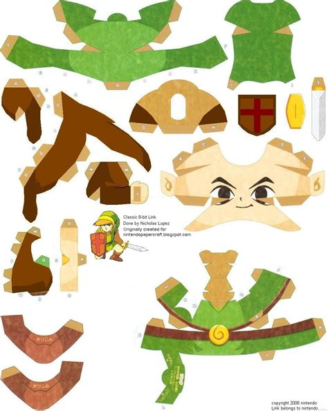 Papercraft Legend Of - link plantilla papercraft manualidades