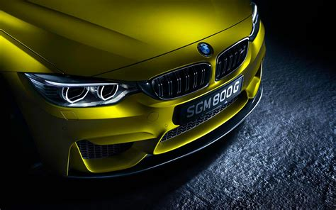 Germain Bmw by German Bmw M4 Yellow Car Front View Wallpaper Cars
