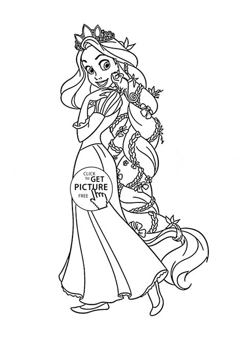 princess coloring pages not disney tangled rapunzel coloring page for disney princess