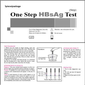 hbsag test china one step hbsag test china rapid test diagnostic kit