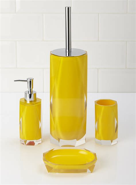 An overview of yellow bathroom accessories bath decors