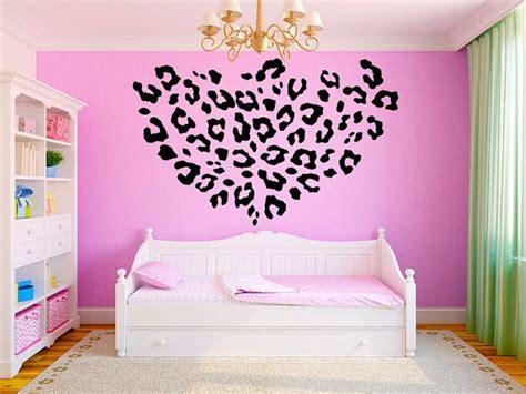 wall stickers teenage bedrooms leopard print girls teen room vinyl wall decal graphics 22