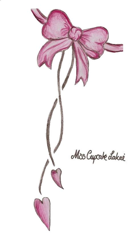 pink tattoo pink bow design by cupcake lakai on deviantart