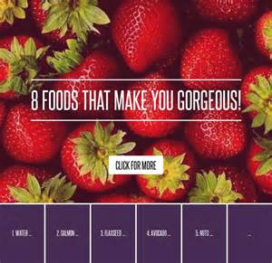 Foods That Make You Gorgeous by 8 Foods That Make You Gorgeous