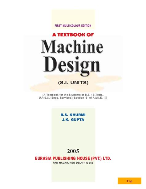design machine elements problems solutions a textbook of machine design by r s khurmi and j k gupta 0001