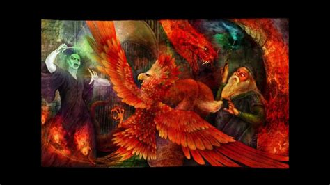 the phoenix and the harry potter and the order of the phoenix fanart youtube
