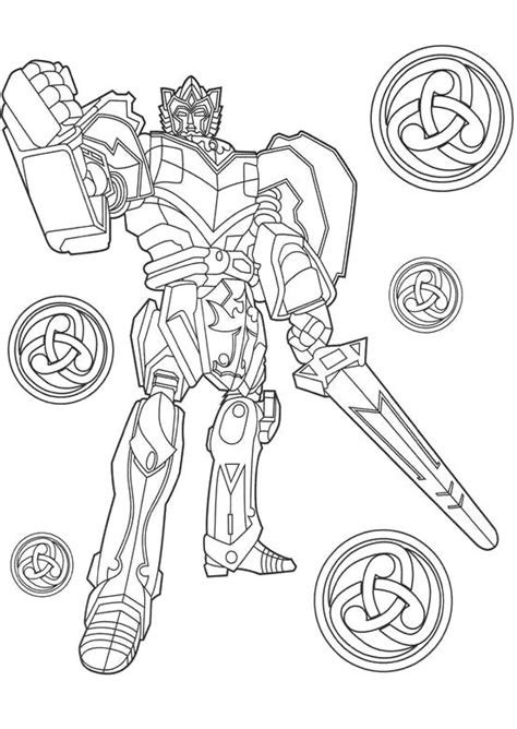 big megazord power ranger coloring pages coloring page