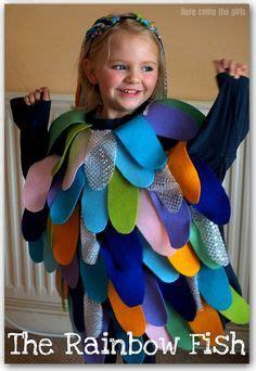 Diy rainbow fish costume great book great tutorial dressup