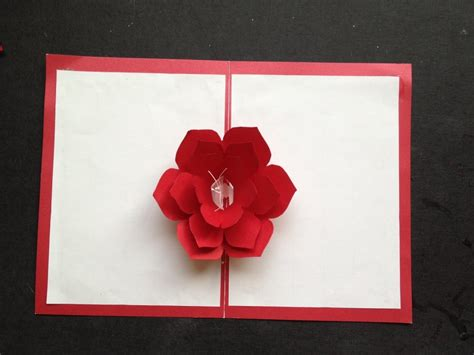 easy to make a 3d flower pop up paper card tutorial free