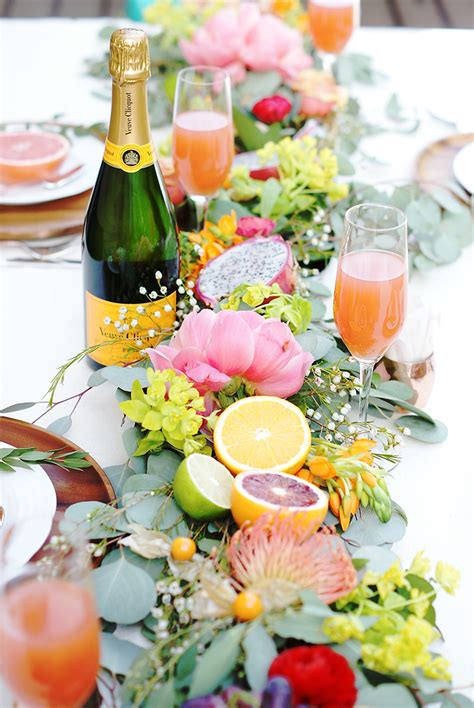 fruit centerpieces for tables the society citrus brunch with diy fruit garland