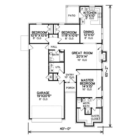 traditional style house plan 3 beds 2 baths 1500 sq ft