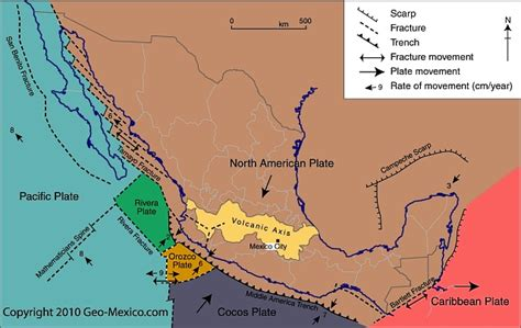 mexico geography www pixshark com images galleries north american tectonic plate www pixshark com images