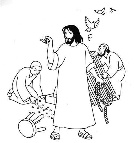 coloring page jesus cleansing temple 1000 images about sunday school colouring 4 on