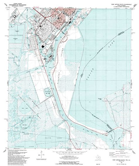 port arthur texas map port arthur south topographic map tx la usgs topo 29093g8