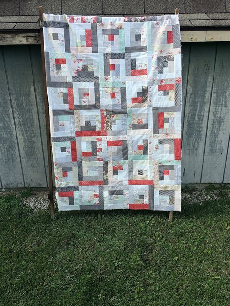 log cabin quilt layer cake log cabin block tutorial coriander quilts