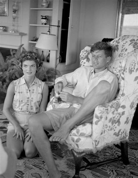 john f kennedy family biography john f kennedy and jacqueline being interviewed by life
