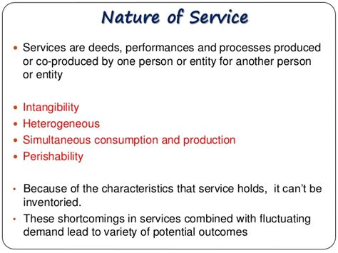 pattern in the nature and properties of the elements supply and demand management in services