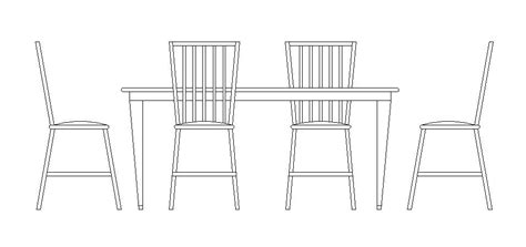 dining table drawing free cad block of dining table and chairs cadblocksfree
