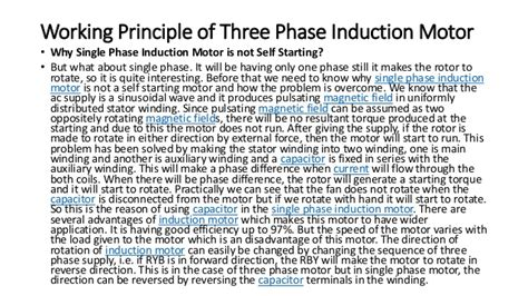 self induction principle induction motor