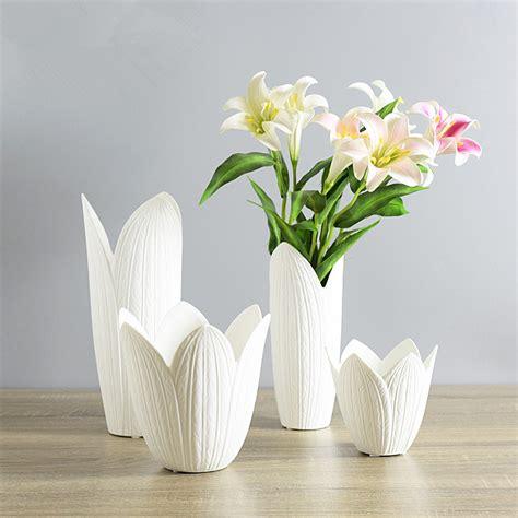 Petals Vase by Creative White Ceramic Vase Petals Shaped Porcelain Vase