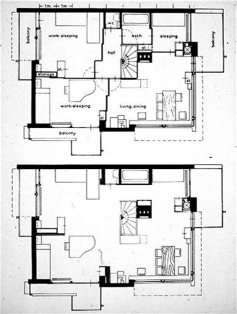 schroder house floor plan schroder house plan