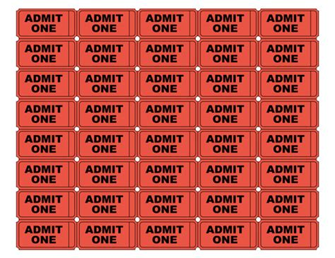 blank admit one ticket template tim de vall comics printables for