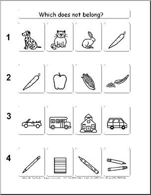 What In This Picture Does Not Belong by Worksheet What Does Not Belong Pet Theme Abcteach