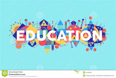 education ilustration creative education concept font illustration stock vector