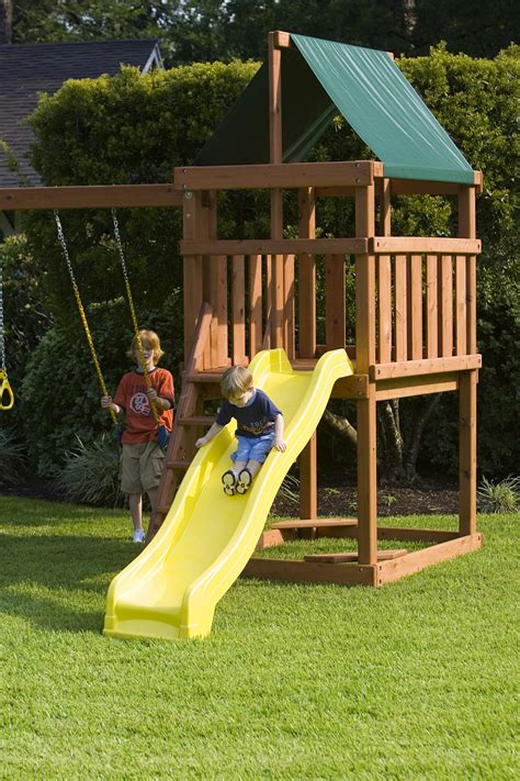 build own swing set endeavor playset diy fort and swingset plans
