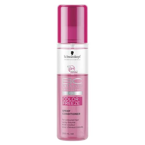 therapy bc schwarzkopf bc bonacure hair therapy colour freeze spray conditioner 400ml hq hair