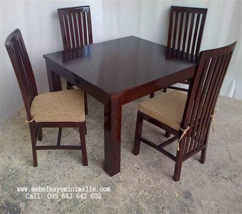 Satu Set Meja Makan Jati set meja makan minimalis jati balero mebel kayu minimalis