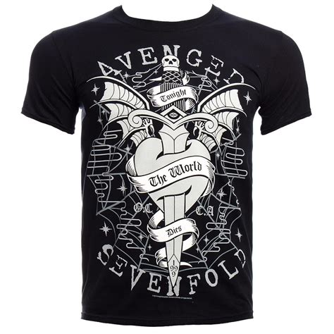 Avenged Sevenfold Print Colour Choice T Shirt Size M official t shirt avenged sevenfold black cloak and dagger band all sizes ebay