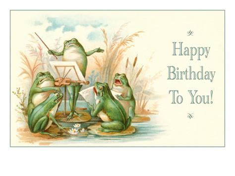 Country Wall Murals happy birthday frog chorus prints at allposters com