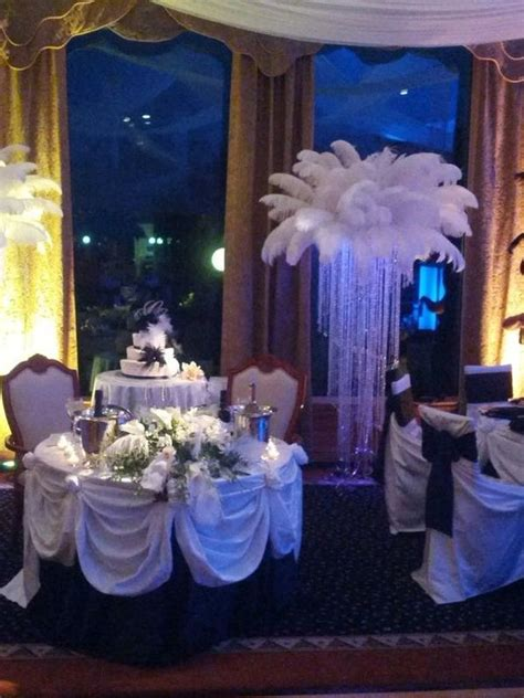 feather centerpiece rental prices feather centerpieces