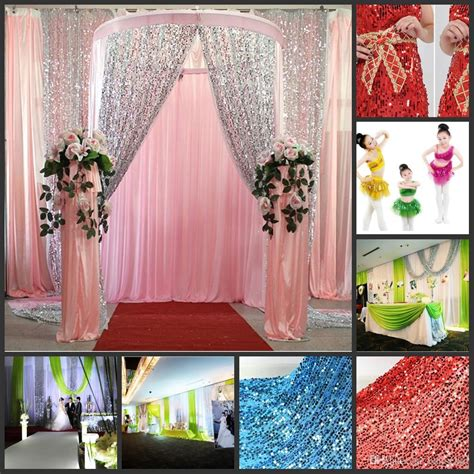 diy wedding table backdrop ideas multicolor glitter bling sequins cloth diy wedding backdrop curtains wedding table wedding stage
