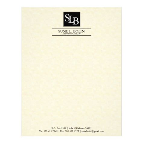 attorney letterhead templates free attorney letterhead zazzle