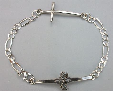 cadenas de plata mexico joyer 237 a collar cadena dije santa muerte totalmente plata