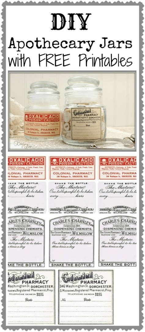 printable apothecary labels pin by luvlee creations on diy decor furniture pinterest