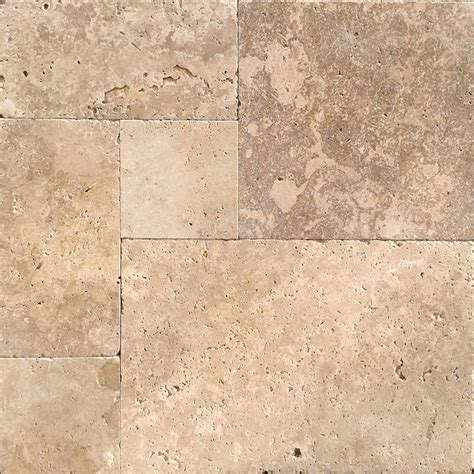 pattern travertine tile only 29 m2 12mm french pattern flow mix tumbled