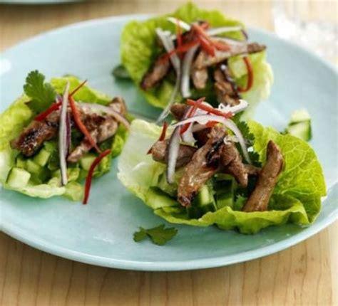 prawn taco boats teriyaki beef lettuce cups recipe bbc good food