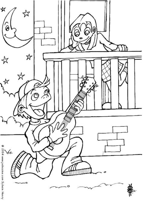 romeo and juliet coloring pages hellokids com