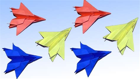 Origami Jet Easy - easy paper plane origami jet fighter how to make an f15