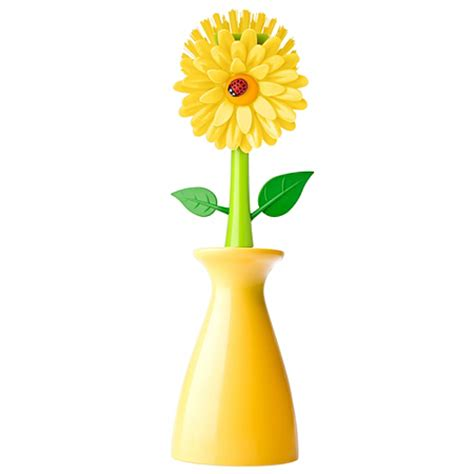 Asda Flower Vases by Vigar Flower Dish Brush Vase Yellow Cleaning Asda Direct