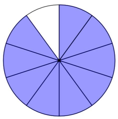 fraction clipart clipart fraction 9 10