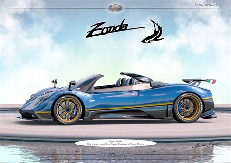 pagani zonda gold pagani creates one off zonda for topcar design customer