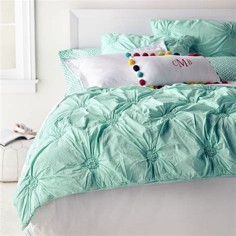 Rosette Bedding by Ruched Rosette Quilt Sham Everything Turquoise